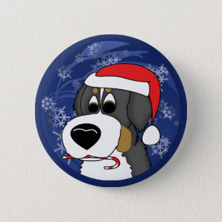 Christmas Bernese Mountain Dog 6 Cm Round Badge