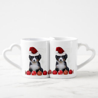 Christmas Bernese Mountain Dog Coffee Mug Set