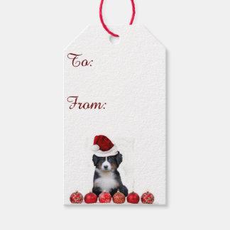 Christmas Bernese Mountain Dog gift tags