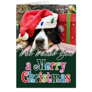 Christmas - Bernese Mountain Dog - Mya Greeting Card
