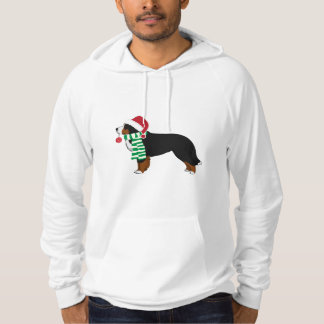Christmas Bernese Mountain Holiday Dog Hoodie