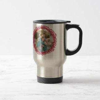 Christmas berry wreath custom photo travel mug
