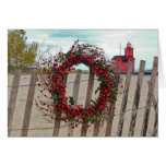 Christmas Berry Wreath Greeting Cards