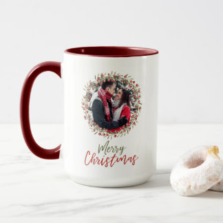 Christmas Berry Wreath | Mug