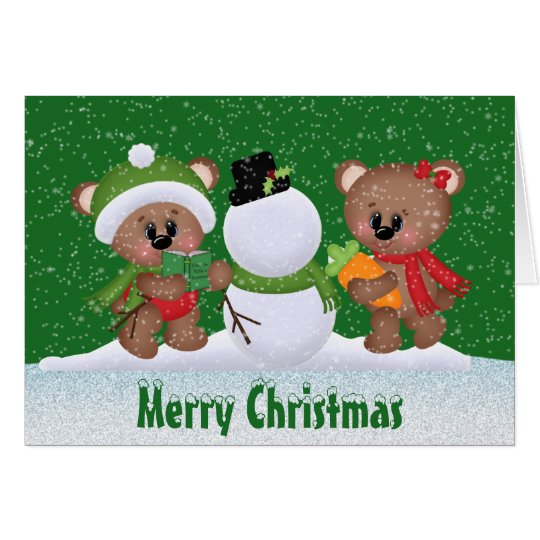 Christmas Best Friends Bear greeting card