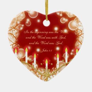 Christmas bible verse elegant traditional christmas ornament
