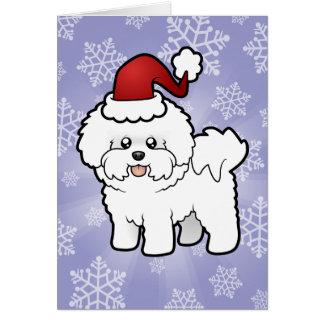 Christmas Bichon Frise Card