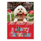 Christmas - Bichon Frise - Harry Card