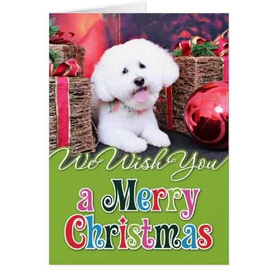 Christmas - Bichon Frise - Jack Card