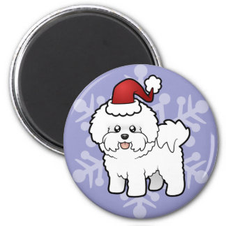 Christmas Bichon Frise Magnet