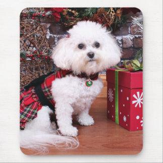 Christmas - Bichon Frise - Mia Mousepads