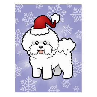 Christmas Bichon Frise Postcard