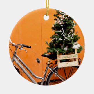 Christmas Bicycle Christmas Ornament