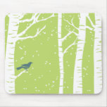 Christmas Birch Trees Mouse Pads