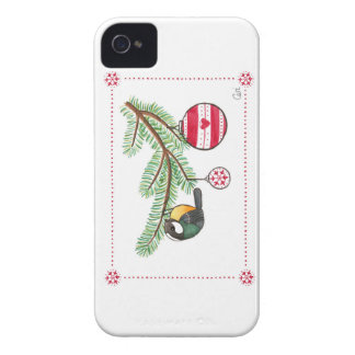 Christmas Bird and Bauble iPhone 4 Covers