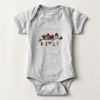 christmas bird baby bodysuit