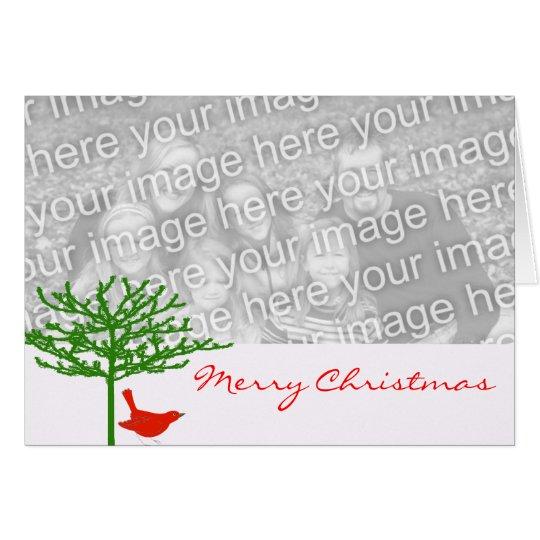 Christmas Bird - - Customised Card