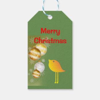 Christmas Bird Gift Tags
