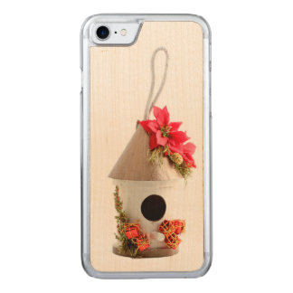 Christmas Bird House Carved iPhone 7 Case