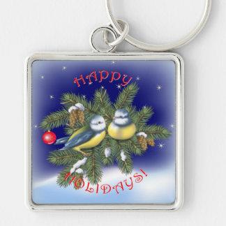Christmas Birds Keychain