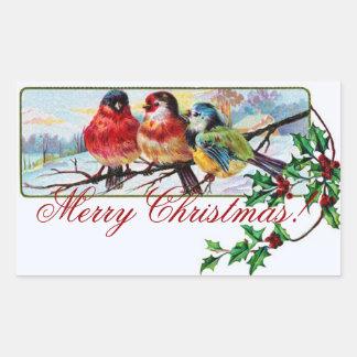 Christmas Birds Sticker