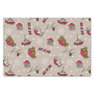 Christmas Birds Woodland 'Home For The Holidays' Tissue Paper