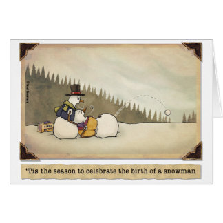 Christmas:  Birth of a Snowman Card