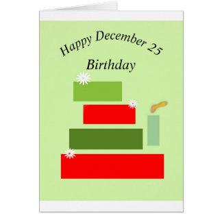Christmas Birthday 2015 Greeting Card