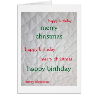 Christmas Birthday Quilted 2 Card