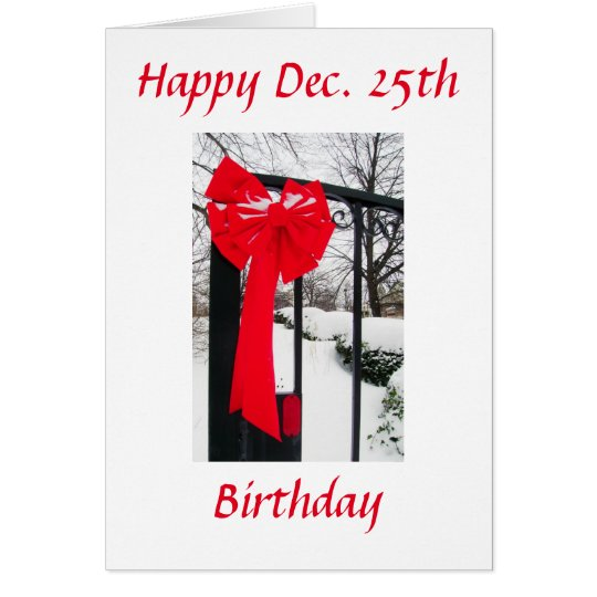 Christmas Birthday Winters Card