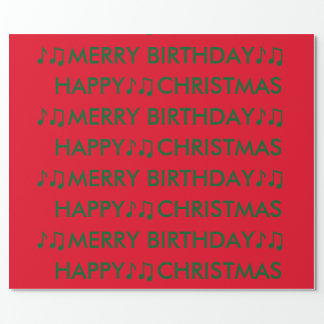 Christmas Birthday Wrapping Paper