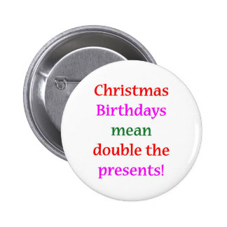 Christmas Birthdays Buttons