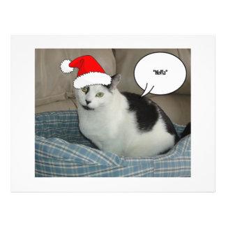 Christmas Black and White Kitten Custom Flyer