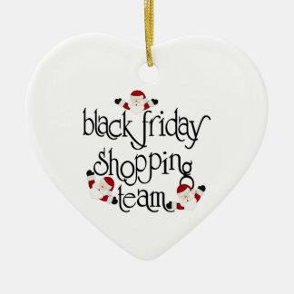 Christmas Black Friday shopping Team Ceramic Heart Decoration