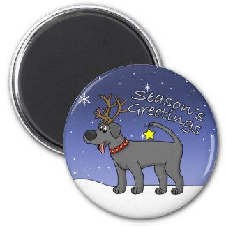 Christmas Black Lab Refrigerator Magnet