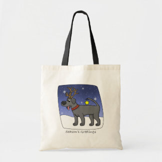 Christmas Black Lab Bag