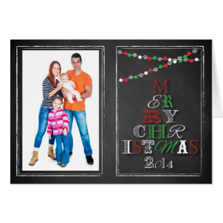 Christmas Blackboard Photo Holiday Cards