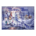 Christmas Blank French Greetings Card