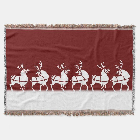Christmas Blanket Holiday Reindeer Throw Blankets