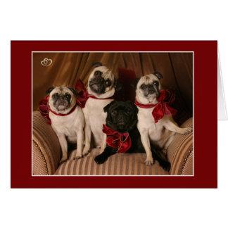 Christmas Blessing Pug Mug Greeting Card