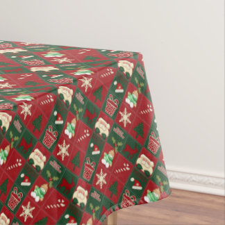 Christmas Blocks-52x70 COTTON TABLECLOTH