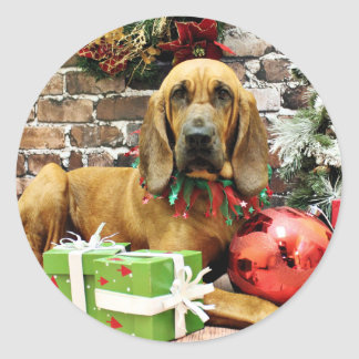 Christmas - Bloodhound - Penney Stickers