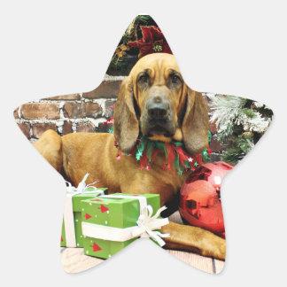Christmas - Bloodhound - Penney Star Sticker