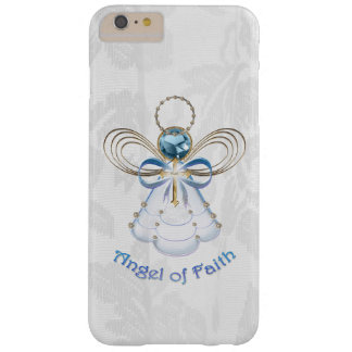 Christmas Blue Filigree Angel of Faith Barely There iPhone 6 Plus Case