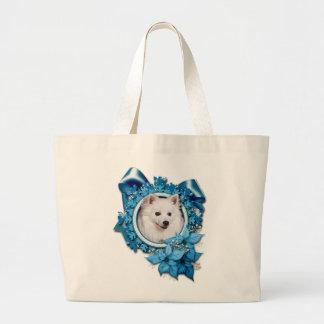 Christmas - Blue Snowflake - American Eskimo Bags