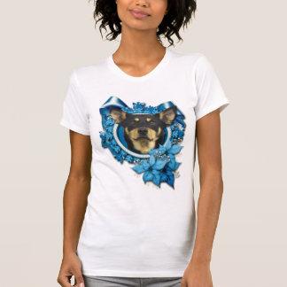 Christmas - Blue Snowflake - Australian Kelpie T-shirt