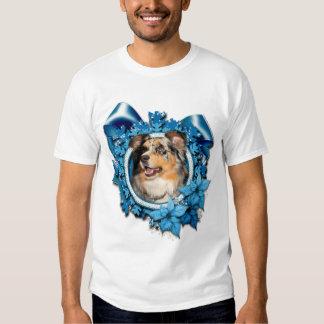 Christmas - Blue Snowflake - Australian Shepherd T-shirt