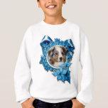 Christmas - Blue Snowflake - Australian Shepherd Tshirts