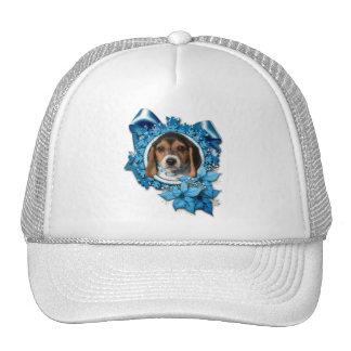 Christmas - Blue Snowflake - Beagle Puppy Trucker Hat