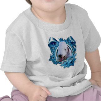 Christmas - Blue Snowflake - Bedlington Terrier Tshirts